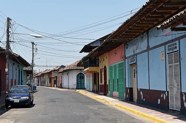 Calle de la ciudad de Granada (Nicaragua)