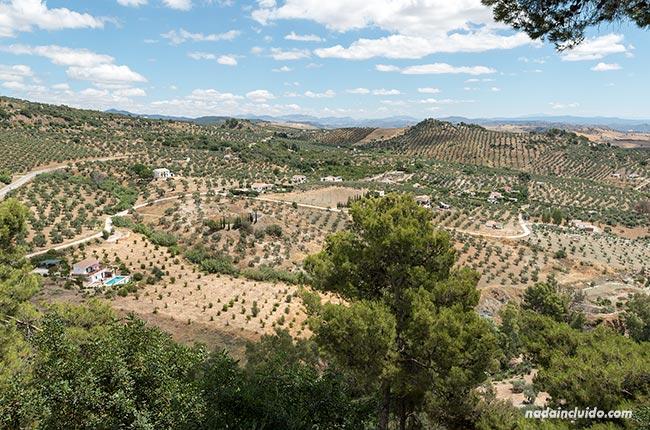 Vistas desde el parque María Sagredo de Alozaina (Málaga)