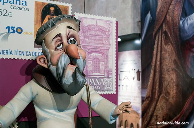 Estatua de Domingo García en el museo de la catedral de Santo Domingo de la Calzada (Rioja, España)