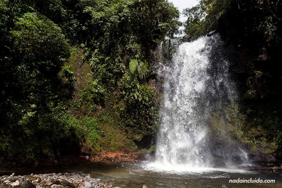 Segunda de las tres cascadas escondidas de Boquete (Panamá)