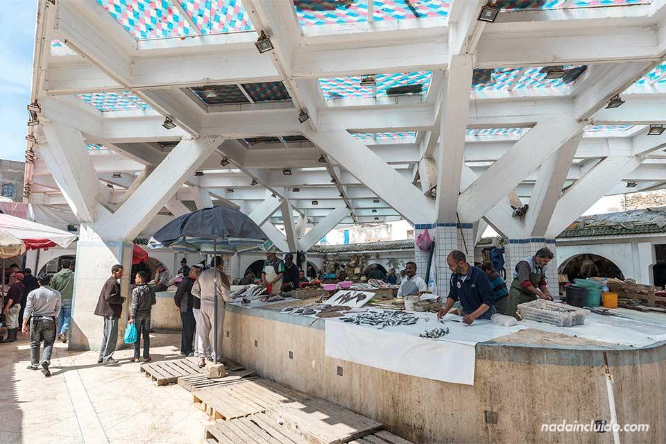 Lonja de pescado en la medina de Essaouira (Marruecos)