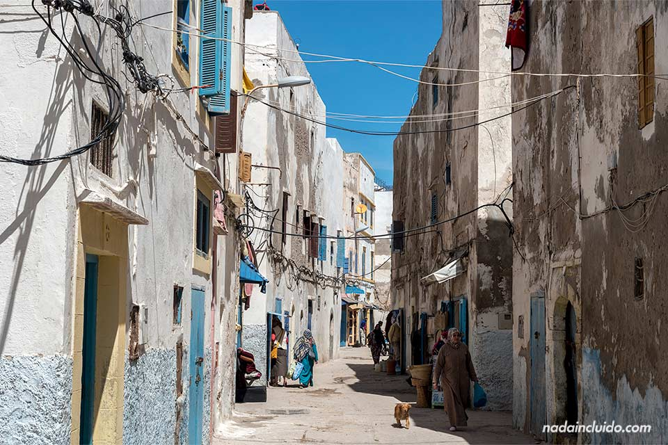 Calle Chbanate en la medina de Essaouira (Marruecos)