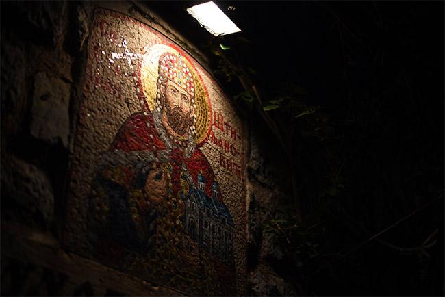 Mosaico en el Stari Grad de Budva (Montenegro)