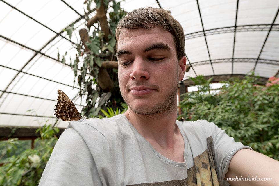 Marioposario en los Jardines de la Catarata de La Paz (Costa Rica)