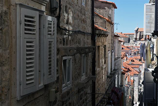 Vista desde lo alto del Old Town de Dubrovnik (Croacia)