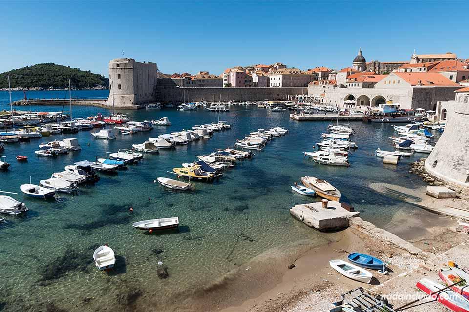 Puerto del Stari Grad de Dubrovnik (Croacia)