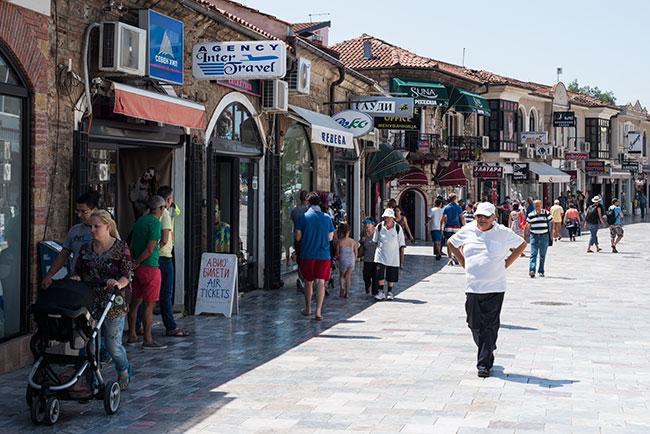 Calle principal de Ohrid (Macedonia)