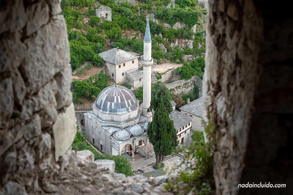 Vista desde el castillo de la Mezquita de Pocitelj (Bosnia)