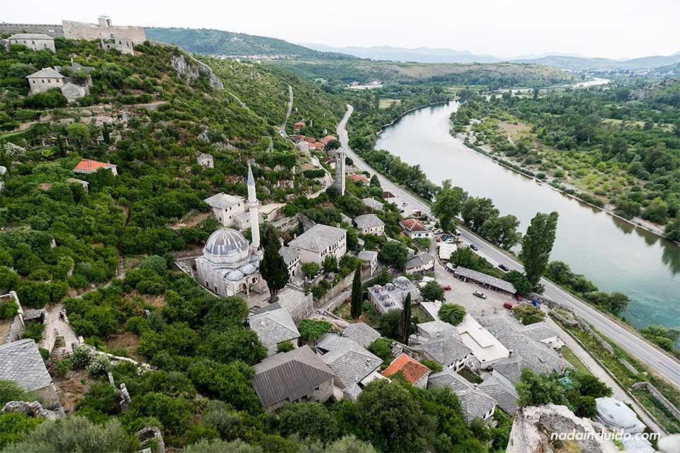 Vista aérea de Pocitelj (Bosnia)