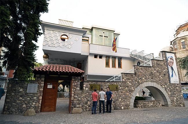 En el Museo de la Madre Teresa de Calcuta, Skopje (Macedonia)
