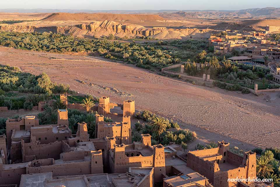 Vistas del Ksar de Ait Ben Haddou desde lo alto (Marruecos)