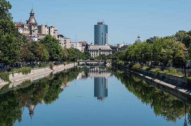 Río Dambovita, Bucarest (Rumanía)