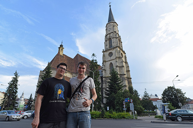 En la iglesia de San Miguel, Cluj-Napoca (Rumanía)