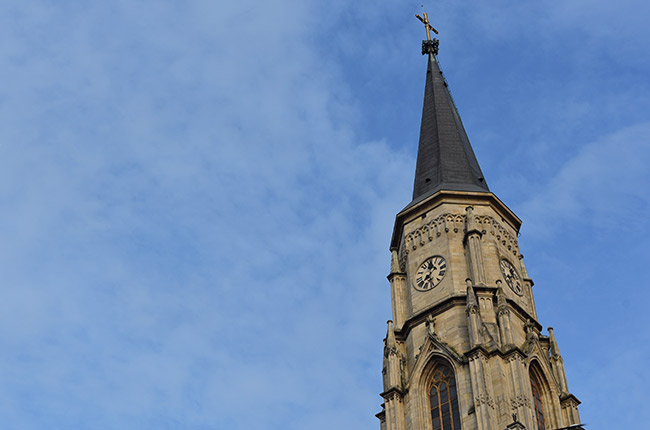 Torre de la Iglesia de San Miguel, Cluj-Napoca (Rumanía)