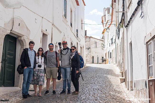 Calle Calzada da Frandina de Estremoz (Alentejo, Portugal)