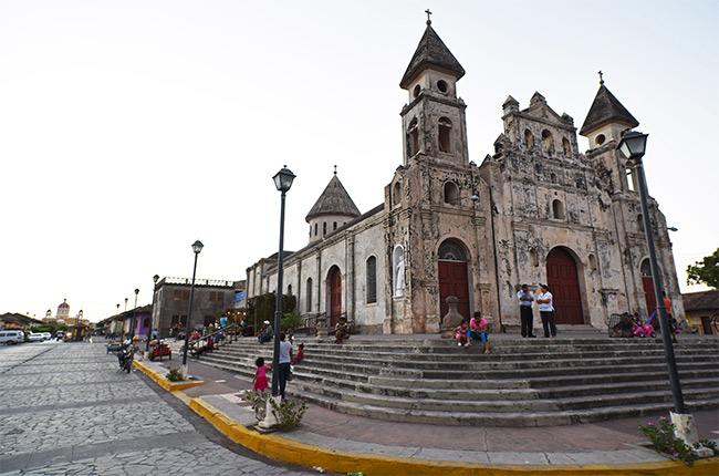 Fachada de la Iglesia de Guadalupe en Granada (Nicaragua)