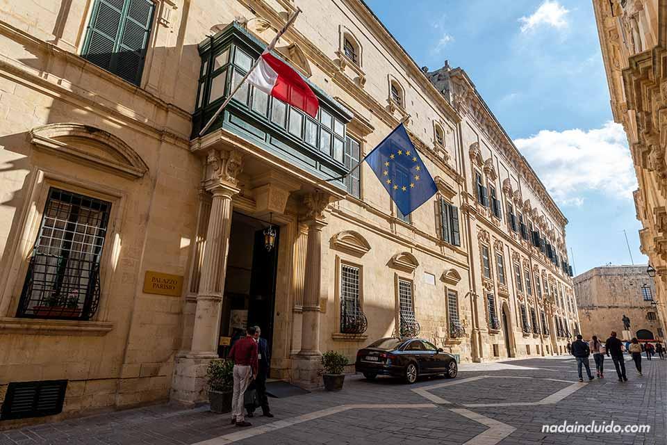 Palazzo Parisio en la calle Merkanti de La Valeta (Malta)