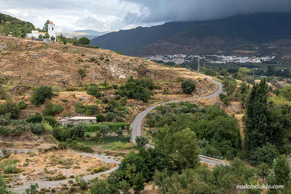 Carretera junto a Laujar de Andarax (Almería)