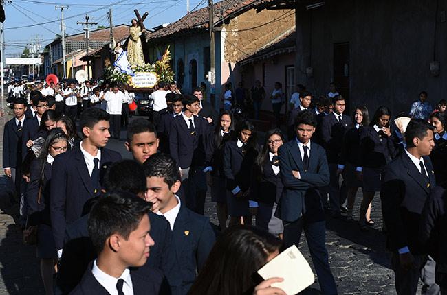 Procesión de Semana Santa en León (Nicaragua)
