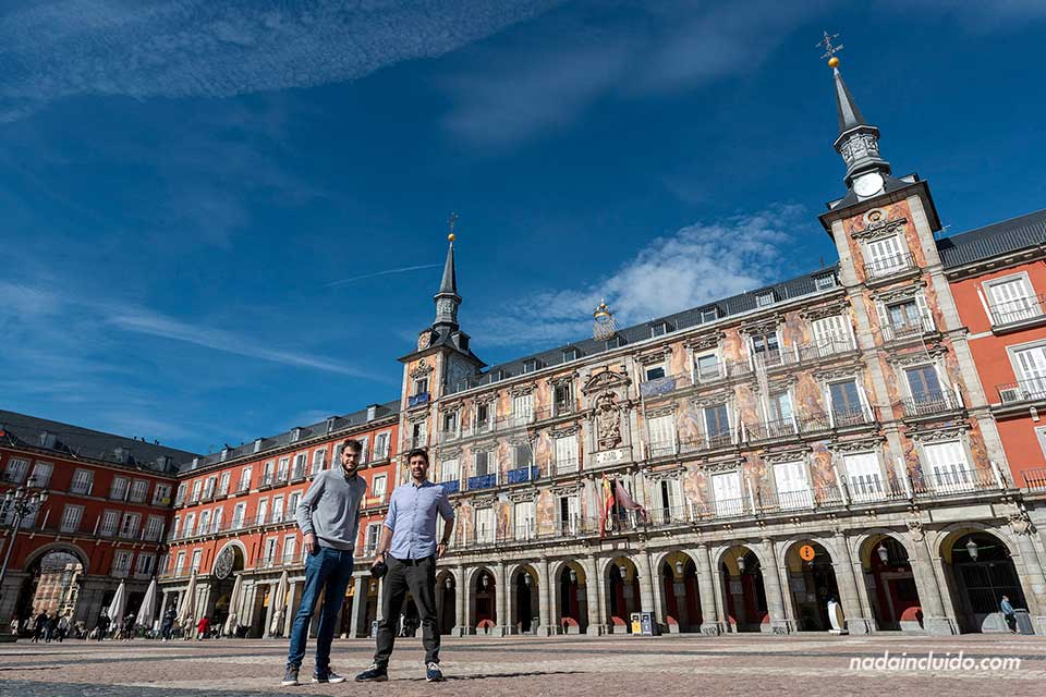 Blogueros en la Plaza Mayor de Madrid