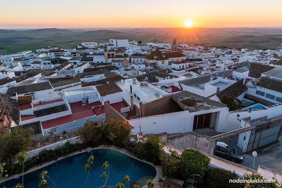 Atardecer desde el restaurante La Vista de Medina (Cádiz)