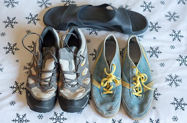 Tipo de calzado que utilizamos en nuestros viajes