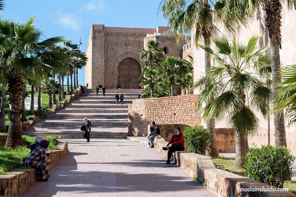Muralla de la Kasbah de los Udayas en Rabat (Marruecos)