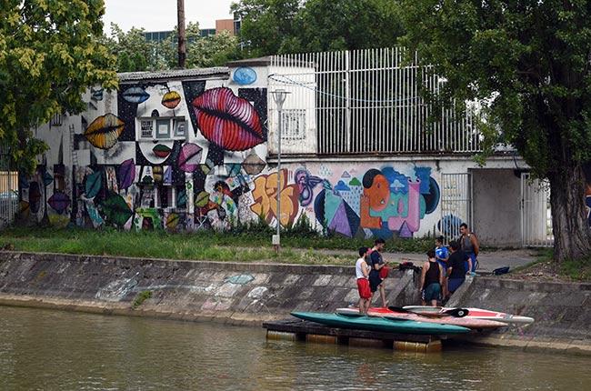 Canal Bega en Timisoara (Rumanía)