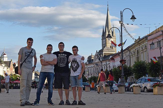 En la Piata Republicii, Turda (Rumanía)
