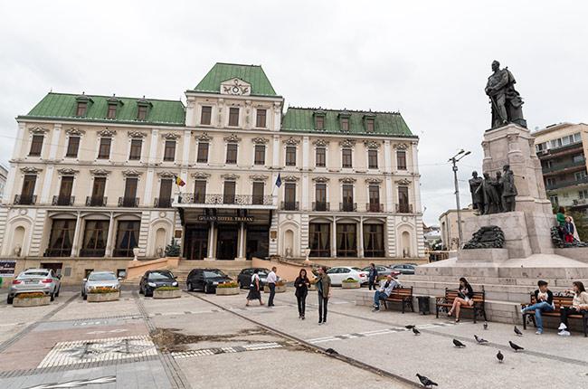 La Piata Unirri (Plaza de la Unión) de Iasi (Rumanía)