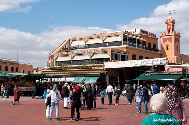 Restaurante Argana en la Plaza de Yamaa el Fna de Marrakech (Marruecos)