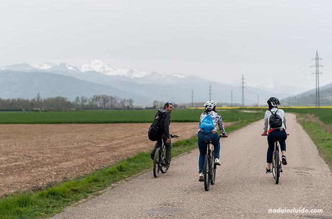 Ruta en bicicleta por los alrededores de Santo Domingo de la Calzada (Rioja, España)