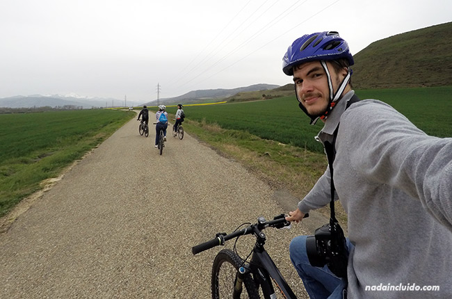 En bicicleta por los alrededores de Santo Domingo de la Calzada (Rioja, España)