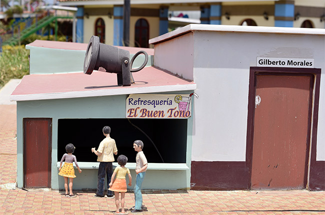 Maqueta de Managua en el Paseo Xolotlán (Nicaragua)