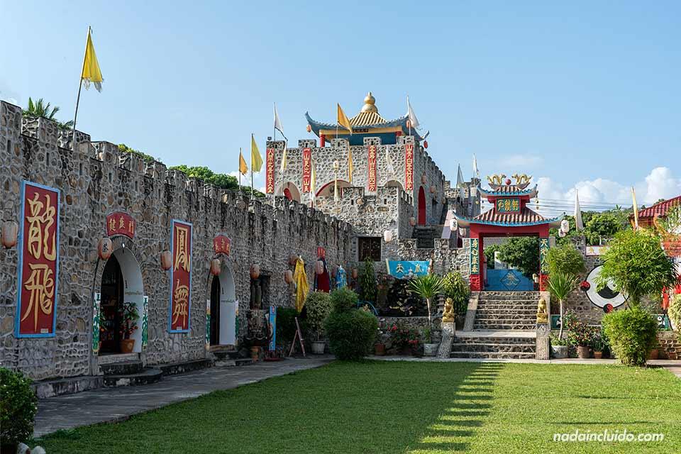 Castillo en el pueblo chino de Santichon Village, muy cerca de Pai (Tailandia)