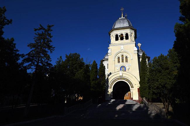 Fachada de la Iglesia Ortodoxa de Turda (Rumanía)