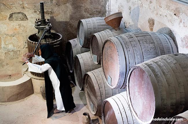 Museo del vino en el Monasterio de Piedra (Aragón, España)