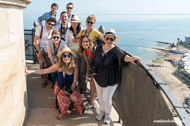 Blogueros en el faro de Chipiona (Cádiz)