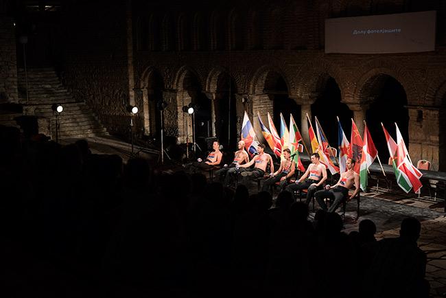 Obra de teatro serbia en el festival de verano de Ohrid (Macedonia)