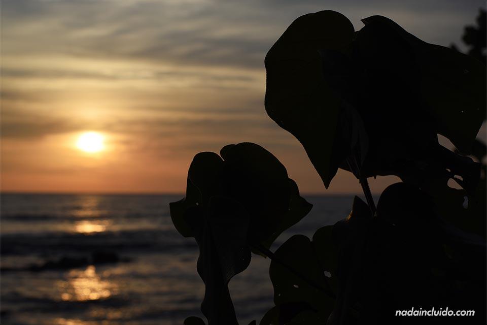 Atardecer en la playa de Mal País (Costa Rica)