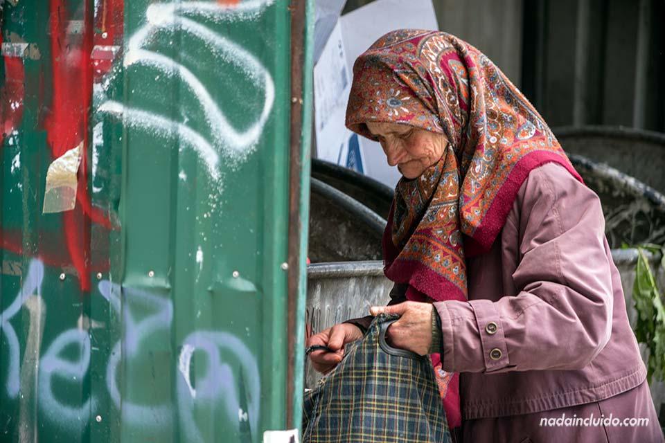Anciana en Sarajevo (Bosnia)