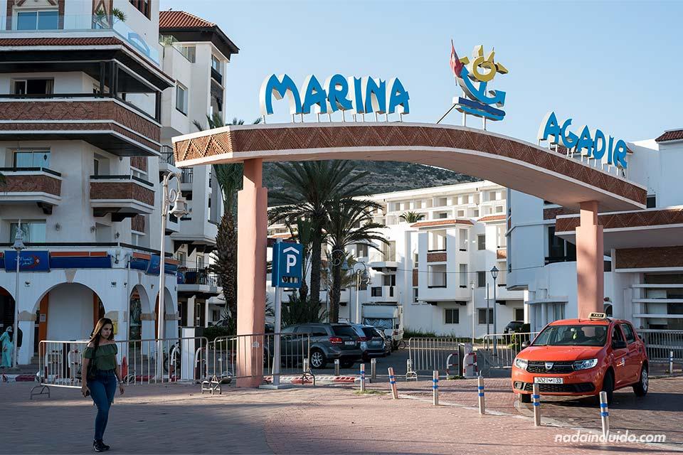 Entrada a la Marina de Agadir (Marruecos)