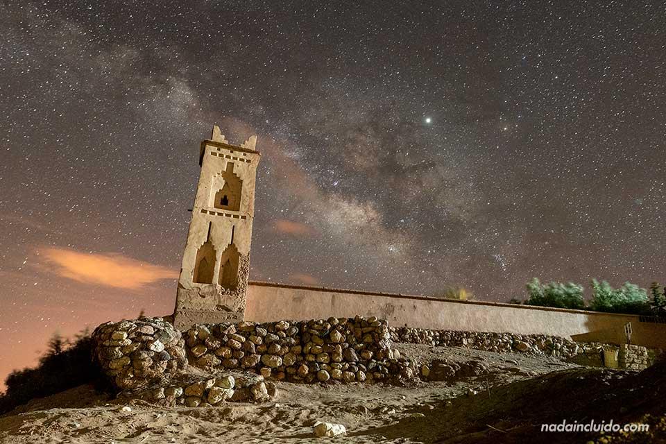 Vía láctea en Ait Ben Haddou (Marruecos)