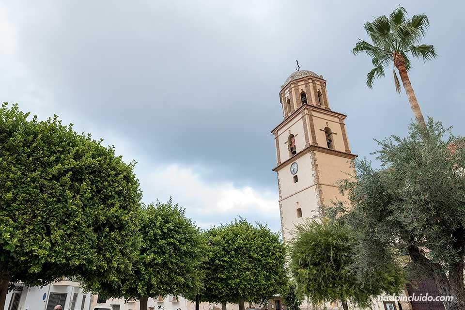 Torre de la iglesia de Alcolea (Almería)