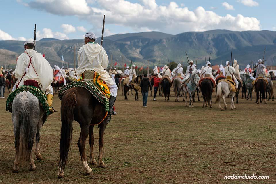 Festival de caballos en Beni Melal (Marruecos)