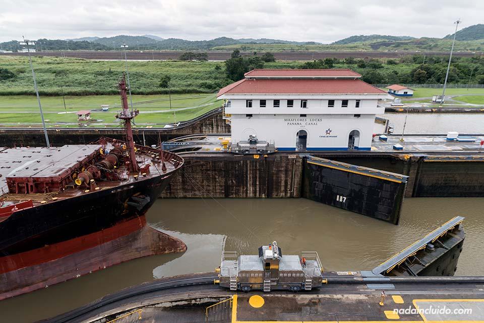 Las esclusas de Miraflores en el canal de Panamá