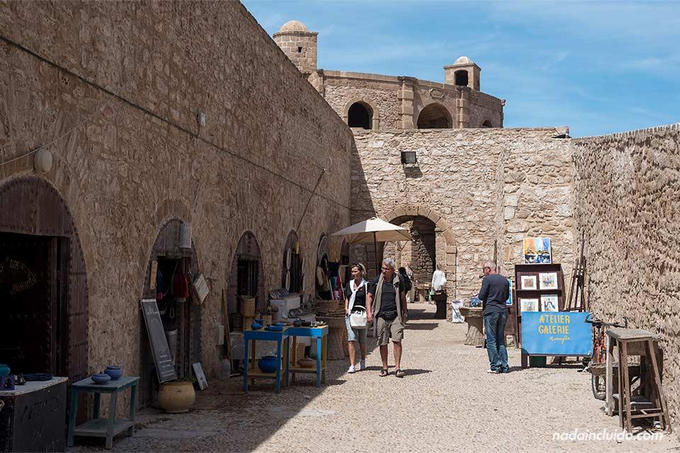 Calle Skala en Essaouira (Marruecos)
