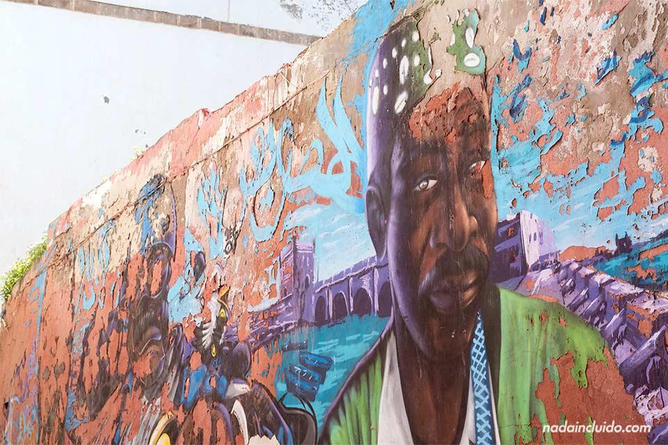 Graffiti en las calles de Essaouira (Marruecos)
