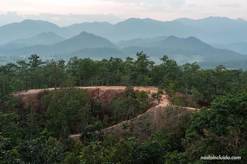 Caminos del cañón de Pai, Kong La (Tailandia)