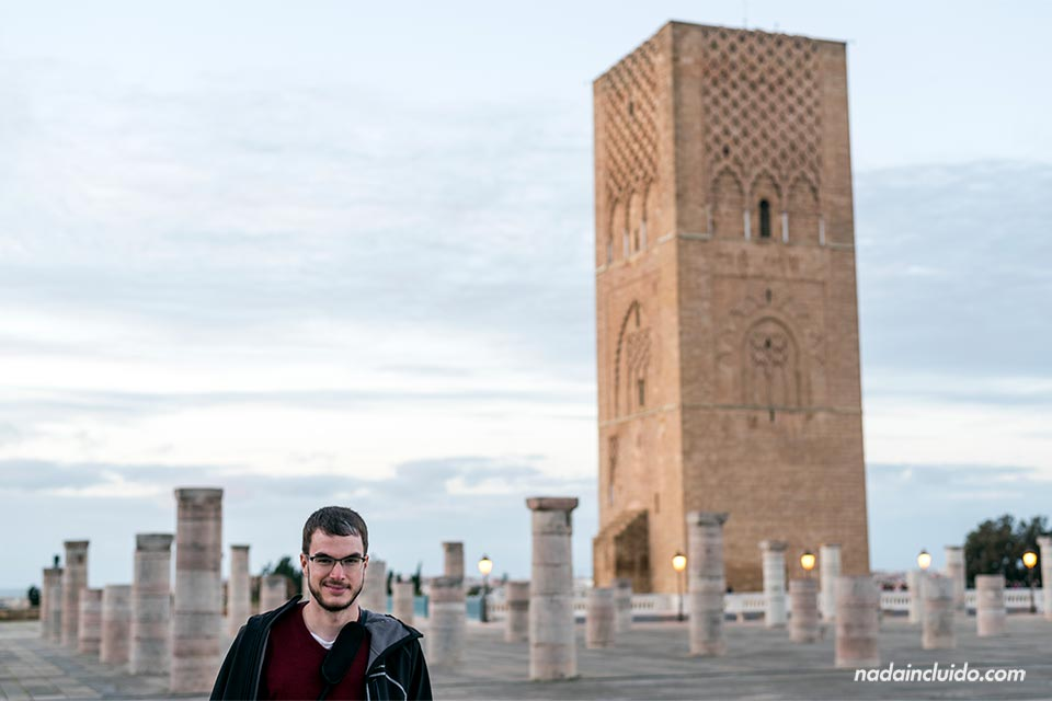 En la Torre de Hassan de Rabat (Marruecos)
